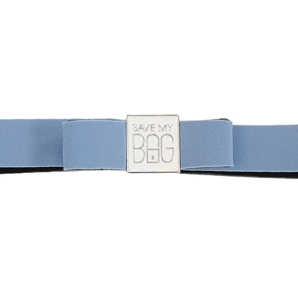 SAVE MY BAG 義大利品牌 MISS系列 灰藍蝴蝶結裝飾帶