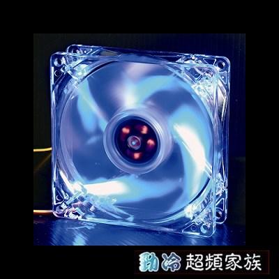 EVERCOOL勁冷超頻家族 9公分LED燈系統風扇(藍色燈)CLB9225-4LD2