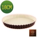 日本Raffine活動式圓型白色不沾菊花派烤盤-18cm-日本製