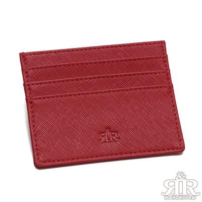 2R 艾比Abby牛皮隨身卡片夾 酒漾紅
