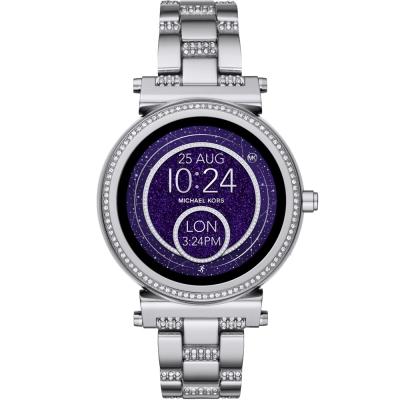 MICHAEL KORS Smartwatch智慧型觸控連線晶鑽手錶-銀/42mm