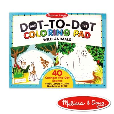 美國瑪莉莎 Melissa & Doug 大型兒童繪本 - ABC 123 點點著色本