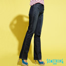 【SOMETHING】自信光芒 SOPHIA 亮片伸縮中直筒牛仔褲-女款(拔洗藍)