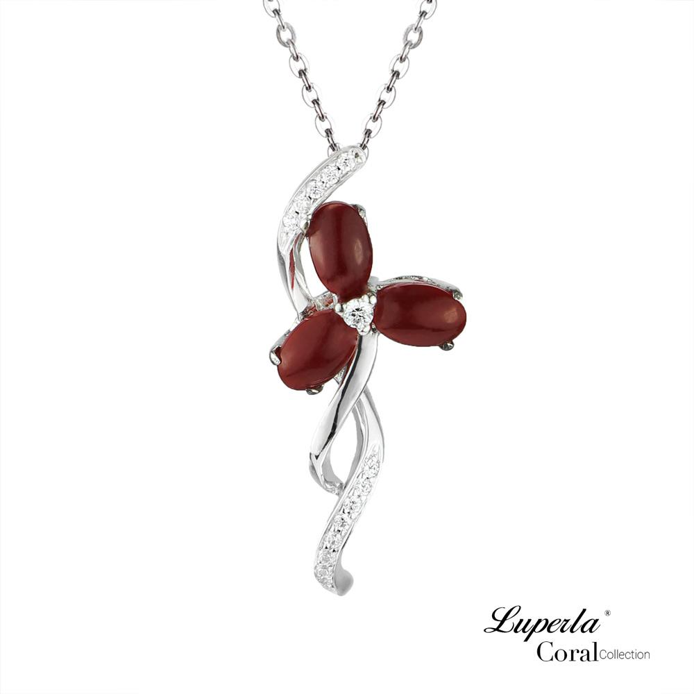 大東山珠寶 天然阿卡珊瑚項鍊墬飾0822-006
