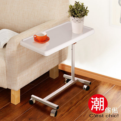 C est Chic-希爾頓昇降機能桌-鏡面白(寬60CM)-DIY
