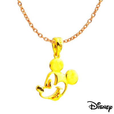 Disney迪士尼系列金飾 黃金墜子-童話米奇款 送項鍊