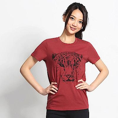 101原創 FACE T恤上衣-復古紅