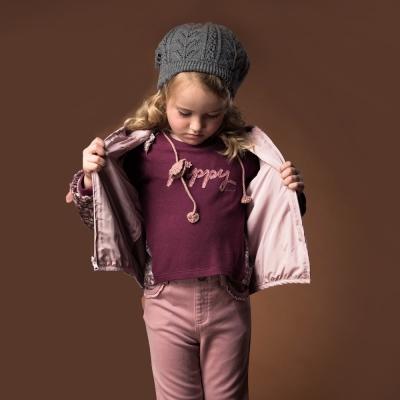 PIPPY 雙肩蕾絲花片上衣 紅