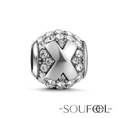 SOUFEEL索菲爾 925純銀珠飾 字母 X 串珠