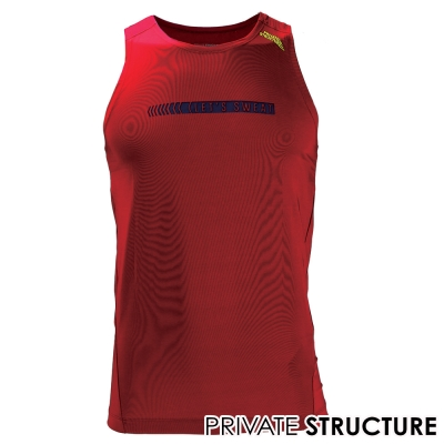 P.S 365GYM快乾型健身路跑運動背心(紅色)