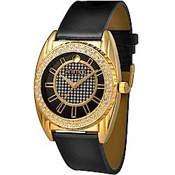 ANIMOO 無與倫比時尚晶鑽腕錶-尊貴黑/40mm