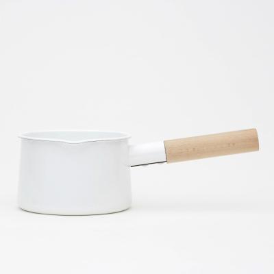 日本kaico-簡約風琺瑯牛奶鍋-M尺寸