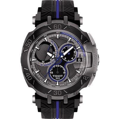 TISSOT天梭 T-RACE MOTOGP 2017限量版賽車錶-黑x藍/45mm T0924173706100