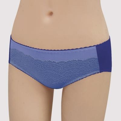 瑪登瑪朵-15AW-我罩妳提托  低腰寬邊三角萊克褲(紫藤藍)