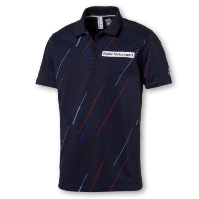 PUMA-男性BMW系列斜線短袖Polo衫-車隊藍-歐規