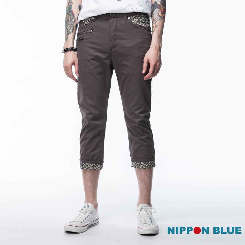 日本藍 BLUE WAY 空吸濕排汗配拉鍊七分褲