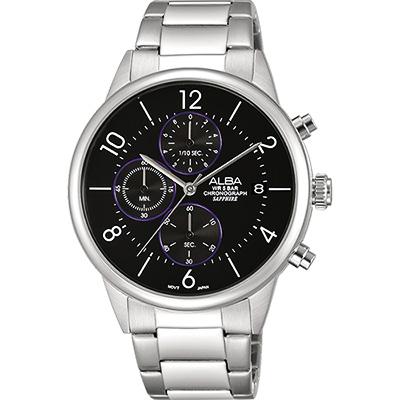 ALBA Prestige 街頭酷流行計時腕錶(AM3335X1)-黑/40mm