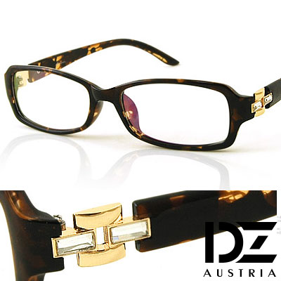 DZ-方飾雙長晶-平光眼鏡-花紋-無鏡片