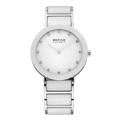 BERING丹麥精品手錶 晶鑽刻度陶瓷錶系列 藍寶石鏡面 白色35mm
