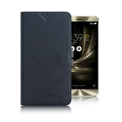 iRis ZenFone 3 Deluxe ZS550KL 亮紋磨砂側翻支架皮套