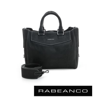 RABEANCO 迷時尚通勤美學手提包 - 黑