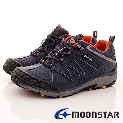 日本Moonstar戶外健走鞋-銀離子4E寬楦款-DM015深藍(男段)