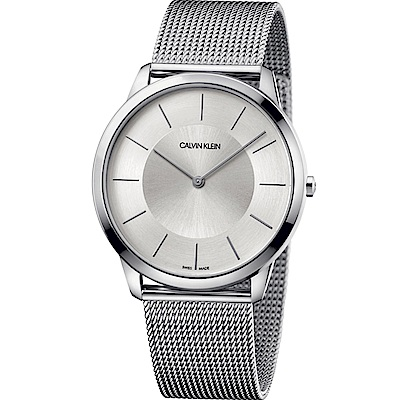 Calvin Klein Minimal系列極簡米蘭帶腕錶(K3M2T126)-43mm