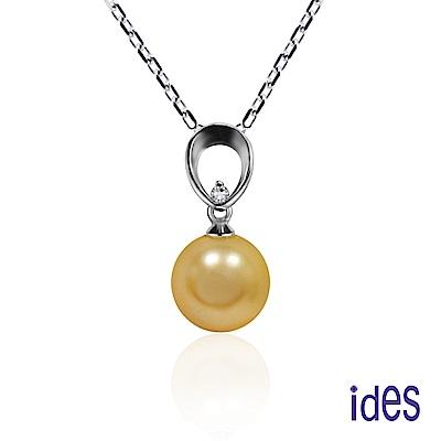 ides愛蒂思 設計款南洋深海貝珠10mm金珠項鍊/鍾愛