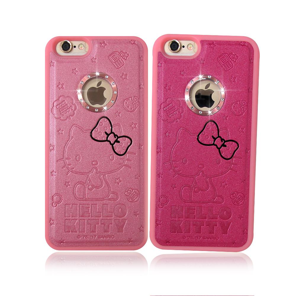 正版授權iPhone 6S Plus凱蒂貓星鑽金莎手機殼蝴蝶結