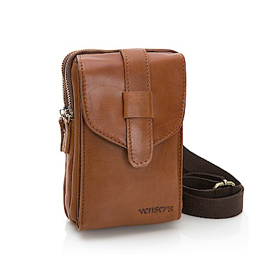 【vensers】小牛皮潮流個性包~腰包(NE057101黃油皮)