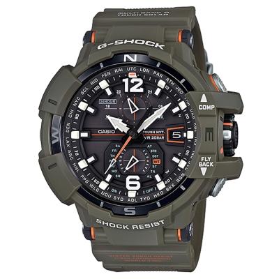 G-SHOCK極限軍事風格飛行夾克概念設計電波錶(GW-A1100KH-3)橄欖綠53mm