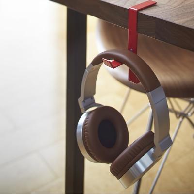 【YAMAZAKI】BEAUTES耳機包包掛架-紅★耳機架/包包架/耳機收納
