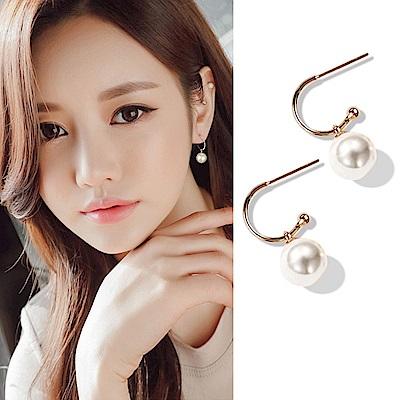 梨花HaNA 韓國925銀針日和氣息午后女孩珍珠耳環