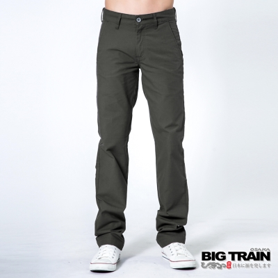 BIG TRAIN BT斜紋小直筒-男-鐵灰