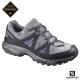 Salomon 登山鞋 低筒 GORETEX 防水 女 TSINGY 灰紫
