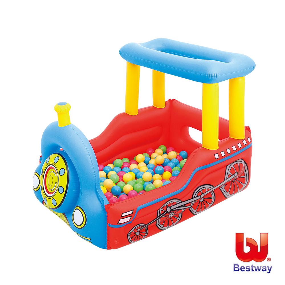 火車造型充氣遊戲池/球池(附50顆球)
