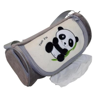 安伯特可愛貓熊面紙套灰色圓仔款