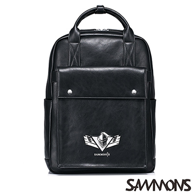SAMMONS 盔甲騎士手提後背包 尊爵黑