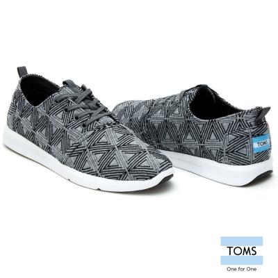 TOMS-菱型織紋休閒鞋-男款-灰