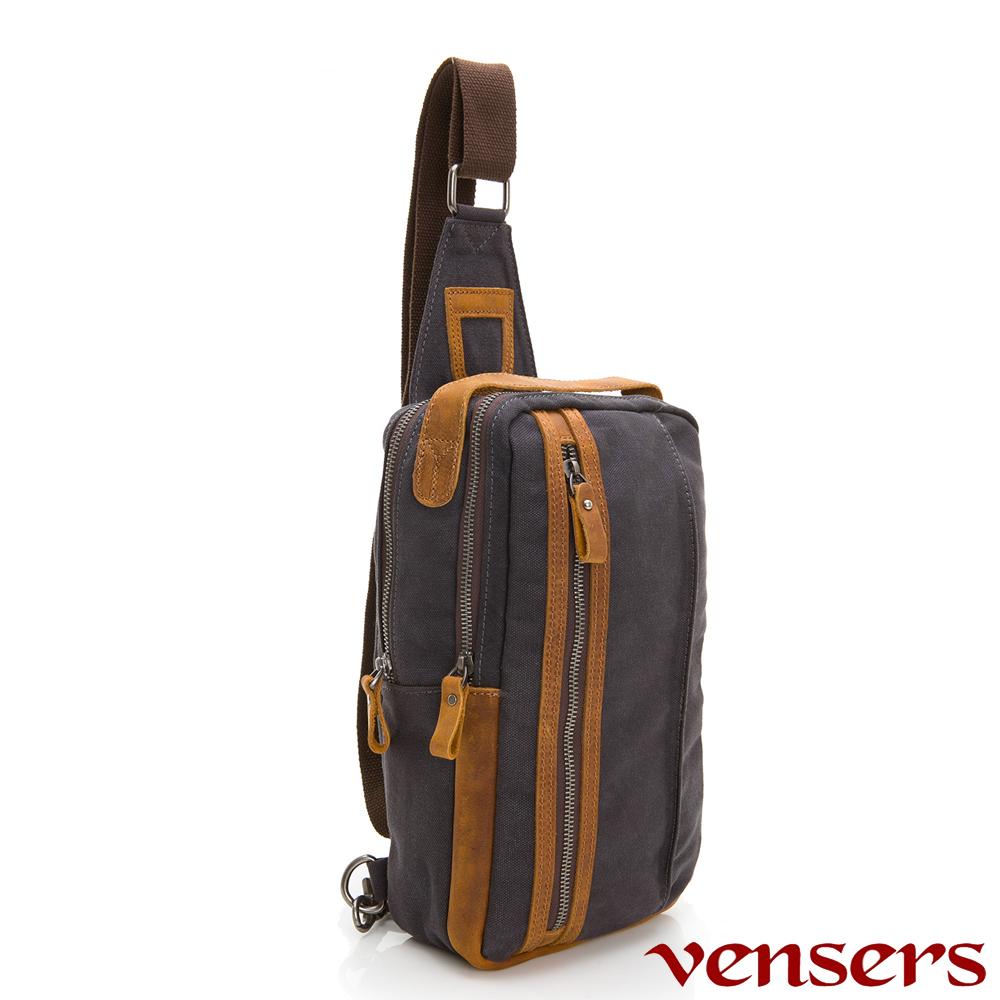 vensers 韓潮棉麻包系列~胸包(C8058001灰色)