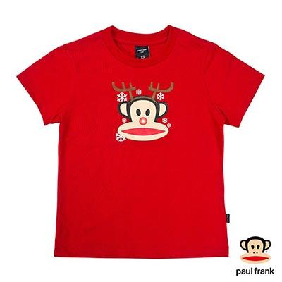Paul Frank-聖誕麋鹿Julius印花短袖T恤-紅(童)