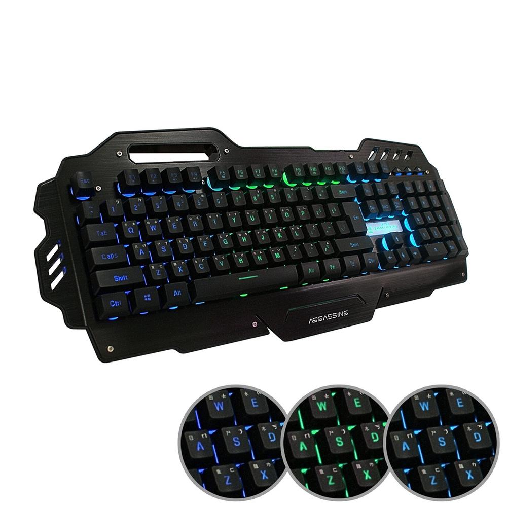 黑客 暗殺星 AK-7000 多媒體背光電競鍵盤(19鍵不衝突)