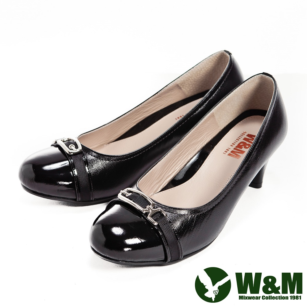 W&M 完美比例中跟鞋-黑