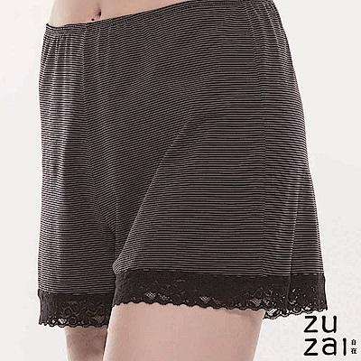 zuzai 自在絲感奇蹟居家蕾絲短褲-女-黑色