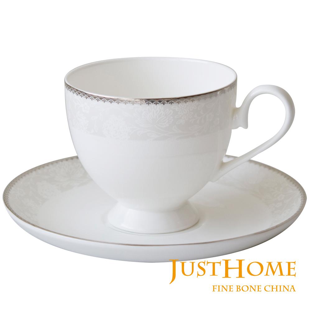 Just Home 安格斯高級骨瓷2入咖啡杯盤組(附禮盒)