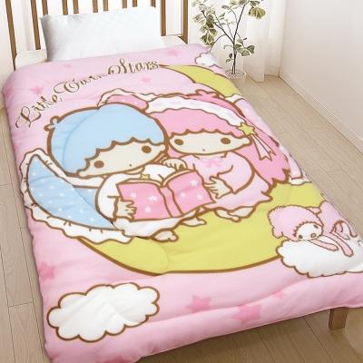 精靈工廠 三麗鷗SANRIO厚感搖粒絨暖暖毯被-雙子星/月亮童話