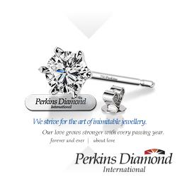 PERKINS 伯金仕-GIA Classic系列 G/SI2 0.50克拉單邊鑽石耳環