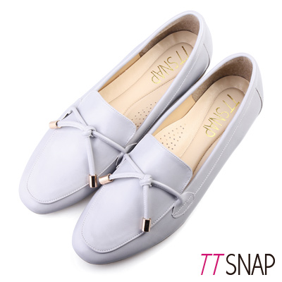 TTSNAP樂福鞋-MIT素色平滑光亮漆面休閒鞋 灰