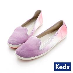 Keds 果凍漸層樂福鞋-淡紫/珊瑚粉