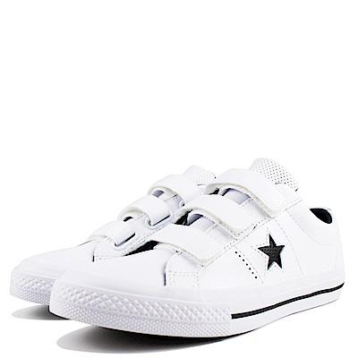 CONVERSE-中大童鞋658496C-白
